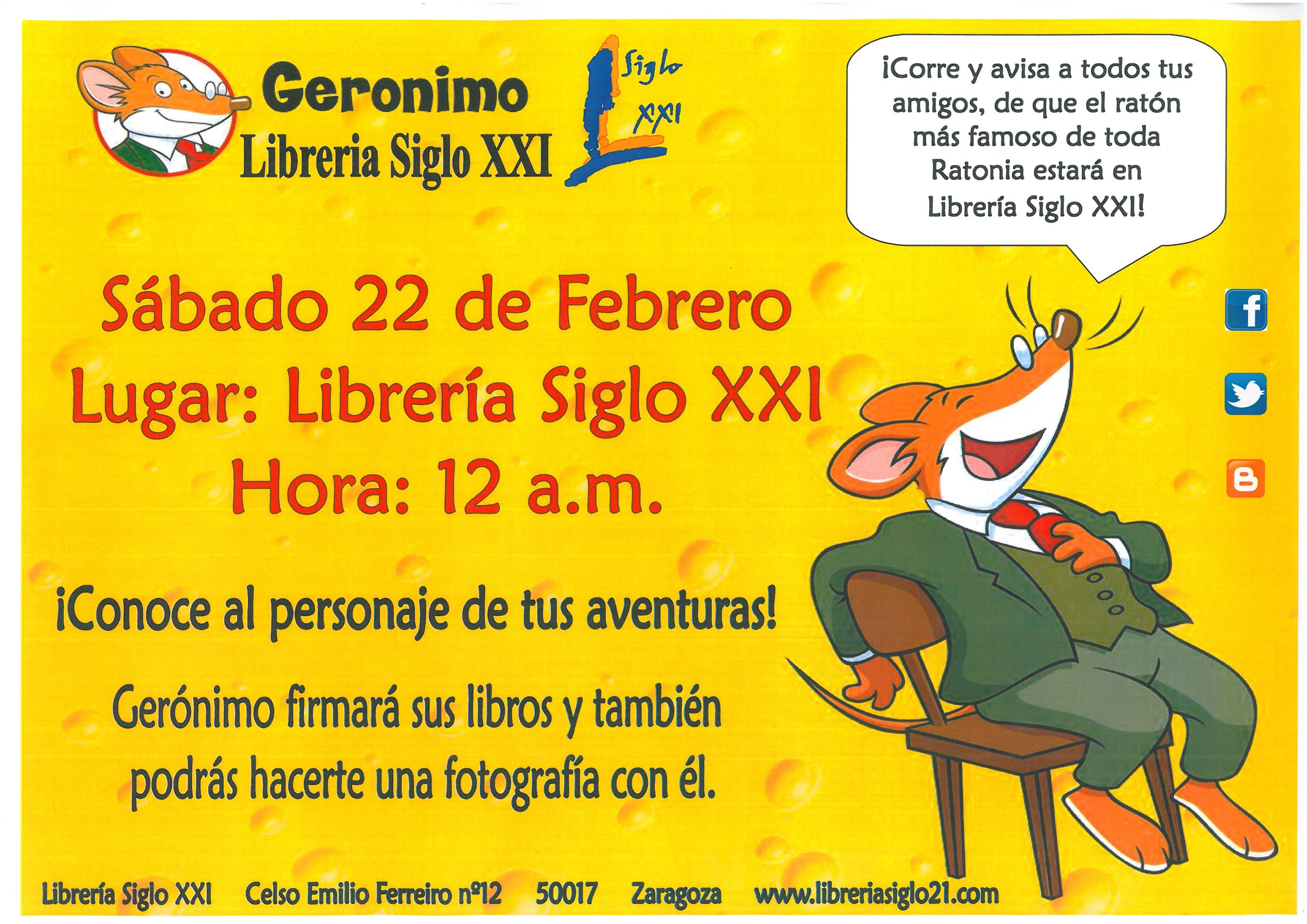 conoce a geronimo stilton el dia 22 de febrero 2013 a las 12h 14h en ...